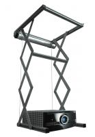 """Elevatore motorizzato da controsoffitto per videoproiettori """"Power-Lift"""" con discesa 100cm, portata 30kg, cestello 64x64x13,5cm, ingombro da chiuso 80x83x15cm"""