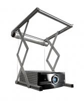 """Elevatore motorizzato da controsoffitto per videoproiettori """"Power-Lift"""" con discesa 30cm, portata 18kg, cestello 42x40x13,5cm, ingombro da chiuso 57,5x52,5x15cm"""