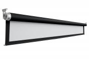 """Schermo proiezione """"Nobox"""" con bordi motorizzato senza cassonetto, con telo """"WhitePro"""" bianco ottico con retro nero 490x368cm 241"""" 4:3, con drop superiore 20cm"""