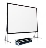 """Schermo proiezione """"Quick-Folder"""" ultraleggero con cornice ripiegabile, tela soft-white + tela retro 305x229cm 150"""" 4:3"""