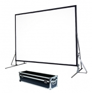 """Schermo proiezione """"Quick-Folder"""" ultraleggero con cornice ripiegabile, tela soft-white + tela retro 391x290cm 200"""" 4:3"""