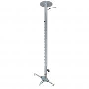 """Supporto da soffitto professionale per videoproiettore """"V-Pro"""" con altezza regolabile 115/180cm (silver)"""