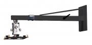 """Supporto da parete professionale per videoproiettore """"Arakno-wall"""" con regolazione micrometrica 60/90cm (nero)"""