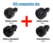 Kit Hitachi composto da ottica corta SS-63, ottica corta SL-62, standard SD-63 e teleobiettivo ML-64