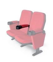 """Bracciolo centrale per poltrona Home Cinema Lumene """"Hollywood Confort"""", (rosso)"""