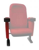 """Bracciolo destro per poltrona Home Cinema Lumene """"Hollywood Confort"""", (rosso)"""
