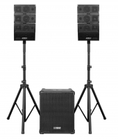 """Set professionale composto da subwoofer amplificato da 12"""" 1200W e coppia di diffusori midrange a 2 vie 100W Earthquake """" DJ-QUAKE-2.1-V2"""", con bluetooth MP3 player (telecomando incluso)"""