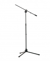 Asta microfonica con braccio, verniciatura nera