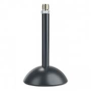Base microfonica da tavolo in acciaio con stelo