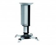 Supporto da soffitto orientabile per videoproiettore con altezza regolabile 26/35cm (silver)