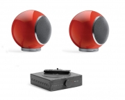"Mini impianto stereo Hi-Fi con Bluetooth Elispon ""Mini Music system"" (rosso)"