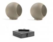 "Mini impianto stereo Hi-Fi con Bluetooth Elispon ""Mini Music system"" (sabbia)"