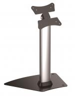"""Supporto professionale da pavimento e da tavolo fisso con base per monitor touchscreen da 13"""" a 21"""", silver"""