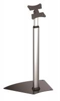 """Supporto professionale da pavimento fisso con base e altezza regolabile per monitor touchscreen da 13"""" a 21"""", silver"""