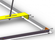 """Porta pannello per elevatori motorizzati da controsoffitto """"Power-Lift"""" grandi"""