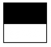 """Telo proiezione a metraggio """"White"""" bianco ottico classico 165x93cm 75"""" (bordi neri laterali e inferiore da 5cm, asola superiore e inferiore di 4,5cm) con drop superiore 95cm"""