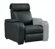 """Seduta per poltrona Home Cinema in pelle sintetica motorizzata Lumene """"Hollywood Luxury III"""", con bracciolo destro USB (nero)"""