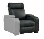 """Seduta per poltrona Home Cinema in pelle sintetica motorizzata Lumene """"Hollywood Luxury III"""", con bracciolo sinistro USB (nero)"""