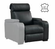 """Seduta per poltrona Home Cinema in vera pelle motorizzata Lumene """"Hollywood Luxury III"""", con bracciolo sinistro USB (nero)"""