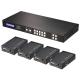 Matrice/Extender HDMI & IR 4x4 Cat.6 con ricevitori, 50m